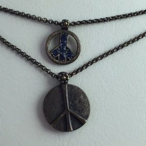 Lucky Brand Hippie Peace w/ Rhinestones, Necklace